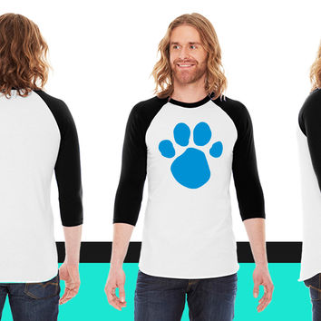 Blues Clues (Dog Pawprint) American Apparel Unisex 3/4 Sleeve T-Shirt