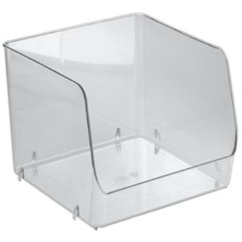 Stackable Clear Plastic Storage Bin - Extra Large