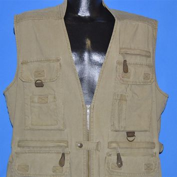 90s Eddie Bauer Zip Front Safari Hunting Vest Medium