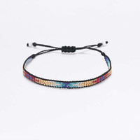 Rainbow Beaded Friendship Bracelet - Urban Outfitters