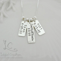 Hand Stamped Tags, Necklace, Hand Stamped Jewelry, Hand Stamped, Personalized Kids Names Tags, Personalized, Mommy Necklace,Necklace for Mom