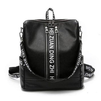University College Backpack New Hip-hop Style Multifunctional Women  Schoolbag Girls PU Leather Travel bag Vintage  Student Casual School bagAT_63_4