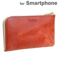 Strapya World : Agility Multi-Utility Zip Type Wallet for Smartphone (Brick)