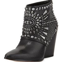 Creed Studded Ankle Boot, Black/Gunmetal