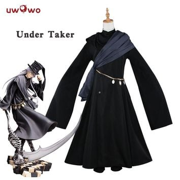 UWOWO Under Taker Cosplay Black Butler Book of Circus Costume Black Butler Cosplay Kuroshitsuji Under Taker Costume Kuroshitsuj