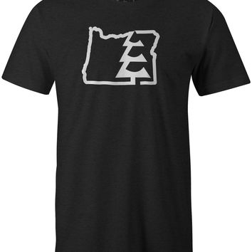 State Tree OR T-Shirt Charcoal Heather