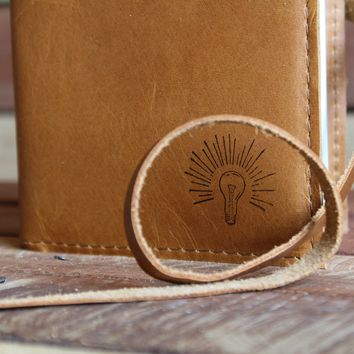 Light Bulb Leather Journal