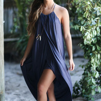 Pacific Coast Charcoal Tulip Dress