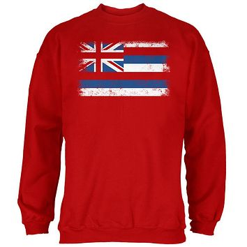 Born and Raised Hawaii State Flag Mens Sweatshirt