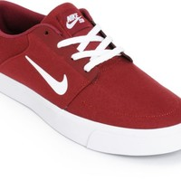 Nike SB Portmore Team Red & White Skate Shoes