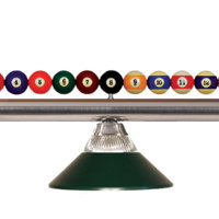 Shark Pool Table Ball Light Brushed Nickel/Solid Dark Green Glass Shade