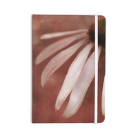 "Iris Lehnhardt ""Copper and Pale Pink"" Brown Flower Everything Notebook"