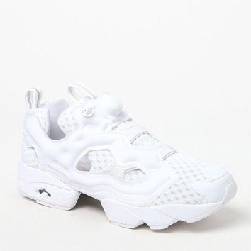 DCCKJH6 Reebok InstaPump Fury OG CC White and Grey Shoes