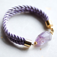 Delicate Pink Ametrine Faceted Nugget gemstone Cord by pardes