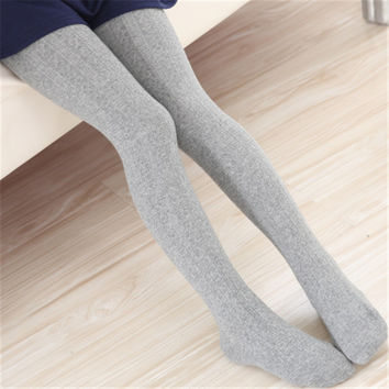 2016 Thick spring winter little gary clothing baby girl wapiti cotton tights kids pantyhose warm winter christmas's stockings