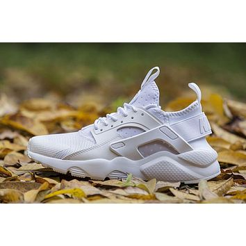 Nike Air Huarache 4 ALL WHITE Men and Women running shoes 36-46