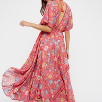 Free People Lovebird Half Moon Gown