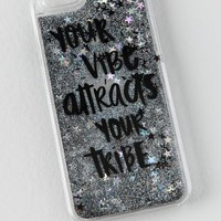 Your Vibe Attracts Your Tribe Glitter iPhone 6 Cas
