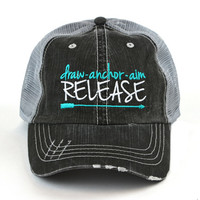 Draw Anchor Aim Release Shredded Cap