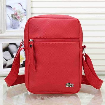 Lacoste Woman Men Fashion Leather Crossbody Satchel Shoulder Bag