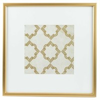 Gold & White Quatrefoil Framed Wall Art | Shop Hobby Lobby