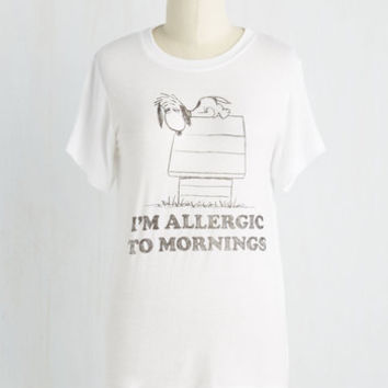 Quirky Mid-length Short Sleeves I Am What A.M. Top