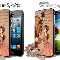 Disney beauty and the beast quotes iphone 4 /4S / 5 case samsung galaxy S3 / S4 case