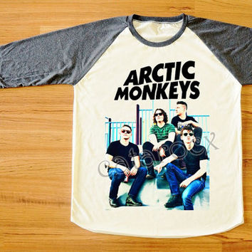 Arctic Monkeys T-Shirt Indie Rock T-Shirt Raglan Tee Shirt Long Sleeve Shirt Women T-Shirt Men T-Shirt Unisex Tee Shirt Baseball Tee S,M,L
