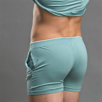 Men Lounge Shorts Underwear Underpant Home Pants Boxers Breathe Casual Pants Sleep Bottoms Free Shipping FT134