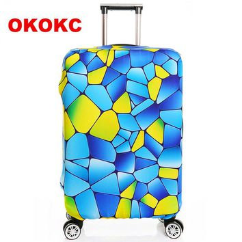 """Thick S/M/L/XL Elastic Suitcase Cover Fashion Luggage Protective Sleeve Trolley Bags Cover for 18""""~32"""" Dust , Travel Accessories"""
