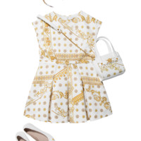 Young Versace Dress with print and belt for Girls | US Online Store
