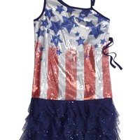 One Shoulder Sequin Americana Dress   Free To Be Girly   Hottest Outfits   Shop Justice