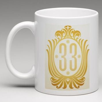 FREE SHIPPING Disneyland Club 33 Disney Coffee Mug Tea Cup