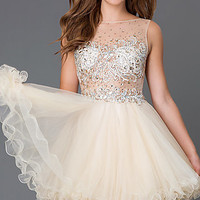 Short Baby Doll Homecoming Dress 6161