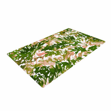 "Ebi Emporium ""In The Meadow 2 - Green Pink"" Green White Woven Area Rug"
