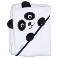 "Frenchie Mini Couture Extra Large 40""x30"" Absorbent Hooded Towel, Panda"