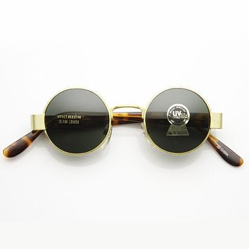 Steampunk Vintage Round Circle Spectacles Sunglasses 7014