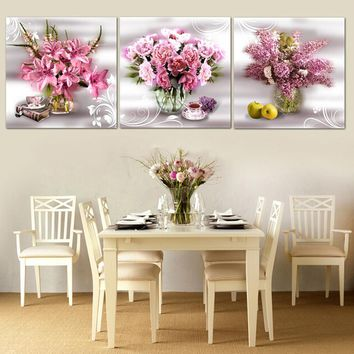 2016 Top Pictures Living Room 3 Piece Wall Art restaurant Painting Pictures Print On Canvas modern home paintings (no Frames)