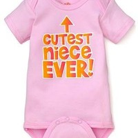 Sara Kety Cutest Niece Ever Infant Short Sleeve Bodysuit (6-12 months)