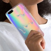 Luxury Bright Hologram Iridescent Triangle Pastel Melting iPhone Case