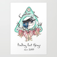 Coraline Jones Art Print by Alizia Vence