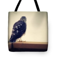 """The Visitor Lake Huron Michigan Tote Bag for Sale by Marysue Ryan (18"""" x 18"""")"""