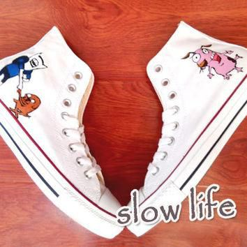 Adventure Time hand-painted converse canvas shoes/Custom canvas shoes/Sneakers/ Carto