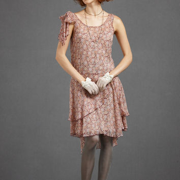 BHLDN Anna Sui Spliced Chiffon Dress - Floral