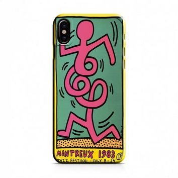 Keith Haring (pink twist) iPhone X Case