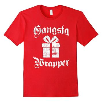 Gangsta Wrapper Funny Holiday Christmas Gift Rapper T-Shirt