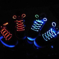 Rave Party New LED Color Glow in the Dark Running Shoes Lace By Krave