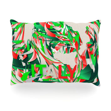 """Danny Ivan """"Italy"""" World Cup Oblong Pillow"""