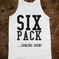 SIX PACK COMING SOON WORK OUT TANK TANK TOP TEE T SHIRT