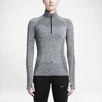 The Nike Dri-FIT Knit Half-Zip Women's Running Top.